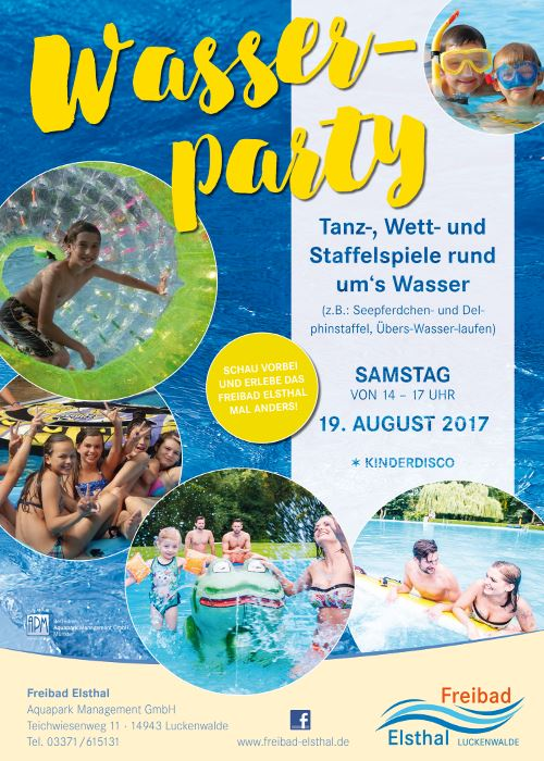Wasserparty im Freibad Elsthal